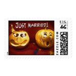 Halloween Just Married Stamps