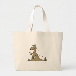 halloween kangaroo large tote bag