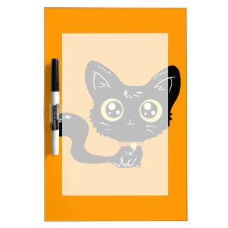Halloween Kawaii Black Kitten Dry-Erase Board