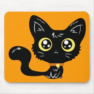 Halloween Kawaii Black Kitten Mousepad