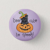 Halloween Kerry Blue Terrier Button