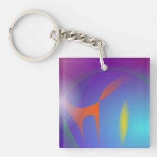 Halloween Square Acrylic Keychain