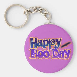 Halloween Keychains - Happy Boo Day Art