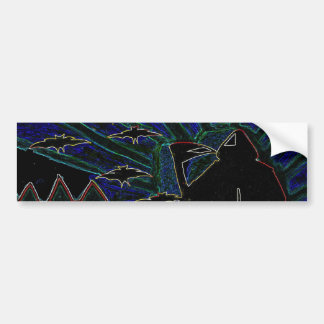 Halloween Kids Abstract Arts Bumper Sticker