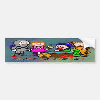 Halloween Kids Car Bumper Sticker