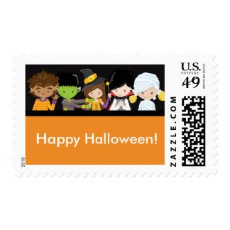 Halloween Kids Costume Party Postage Stamp