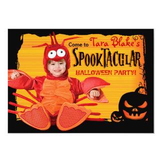 Halloween Kids DIY Costume Party Photo Card