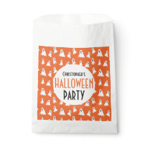 Halloween Kids Ghost Pattern Personalized Party Favor Bag