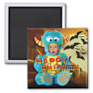 Halloween Kids I - Costume Party Photo 2 Inch Square Magnet