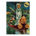 Halloween Kids in Boat – Greeting Card