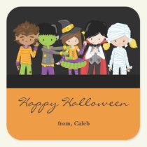 Halloween Kids in Costume Cute Party Favor Sticker
