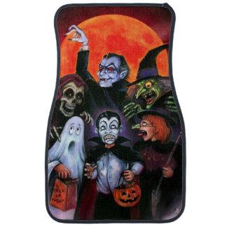 halloween kids meet monsters car floor mat