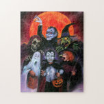 "Halloween Kids meet Monsters Jigsaw Puzzle<br><div class=""desc"">When these Trick or Treaters went out on Halloween Night,  they didn"