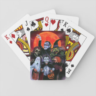 Halloween Kids meet Monsters Playing Cards