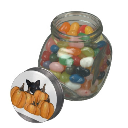 Halloween kitten jellybean jars and tins jelly belly candy jars