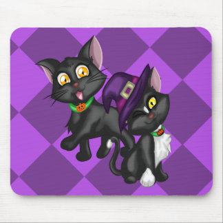 Halloween Kittens Mouse Pad