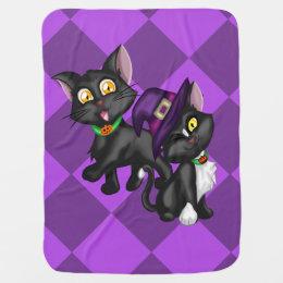 Halloween Kittens Stroller Blanket
