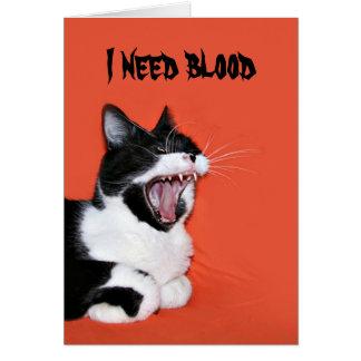 Halloween kitty greeting cards
