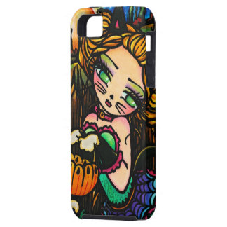 Halloween Kitty Cat Costume Girl Art iPhone Case