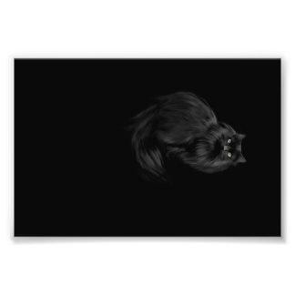 Halloween kitty cat photo print