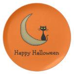 Halloween Kitty Dinner Plate