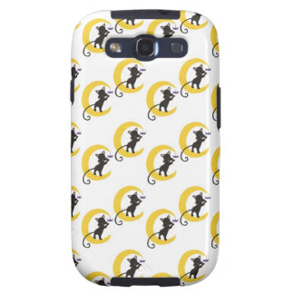 Halloween Kitty in the Moon with Spider.jpg Galaxy SIII Case