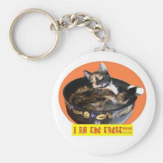 Halloween Kitty Keychain