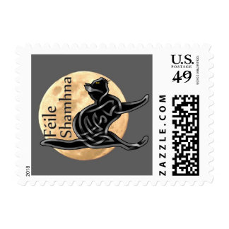 Halloween Kitty Postage Stamps