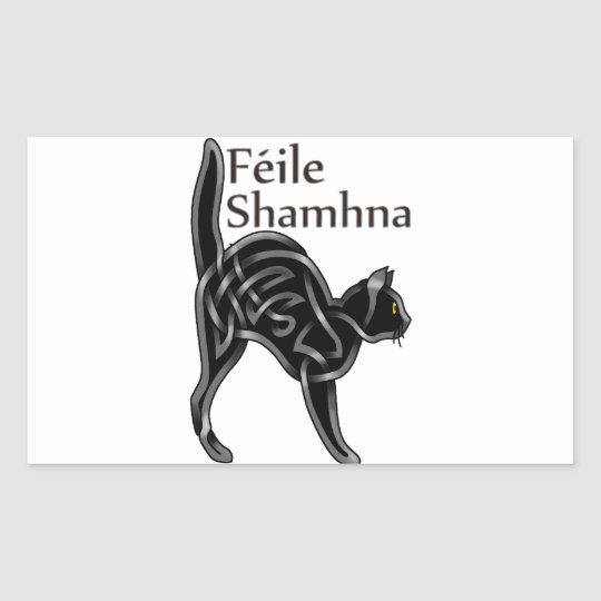 Halloween Kitty Rectangular Sticker