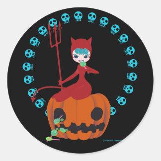 Halloween kitty (red)