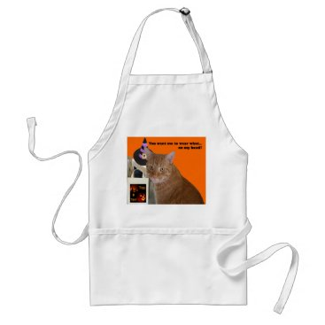 Halloween Themed Halloween Kitty - Wear What Adult Apron