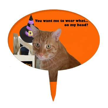 Halloween Themed Halloween Kitty - Wear What Cake Topper