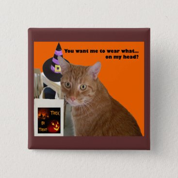 Halloween Themed Halloween Kitty - Wear What Pinback Button