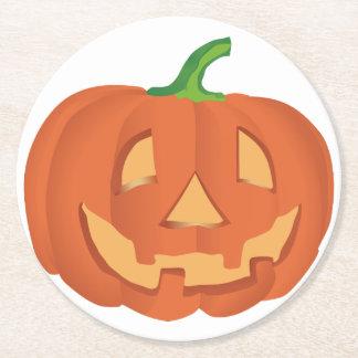 Halloween Kürbis / Pumpkin Mug Round Paper Coaster