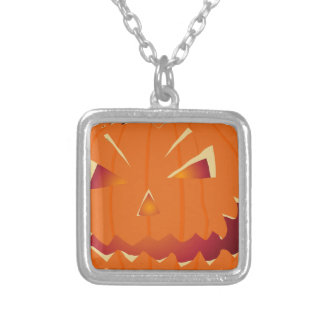 Halloween Kürbis Silver Plated Necklace