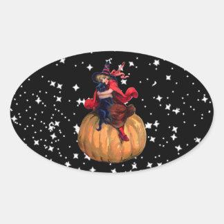 Halloween: La frontera final Pegatina Ovalada
