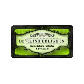 Halloween Labels - Lime Green Custom Halloween