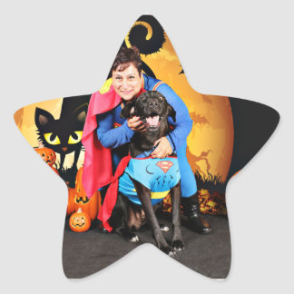 Halloween - Labrador - máximos Calcomania Forma De Estrella