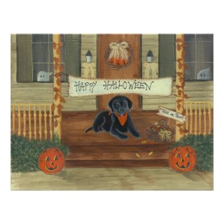 Halloween Labrador print