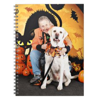 Halloween - Labrador - tonelero Libro De Apuntes Con Espiral