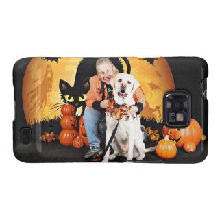 Halloween - Labrador - tonelero Samsung Galaxy S2 Carcasas