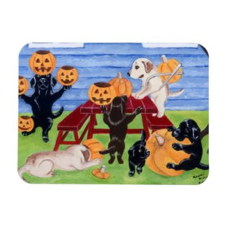Halloween Labradors Painting Magnet