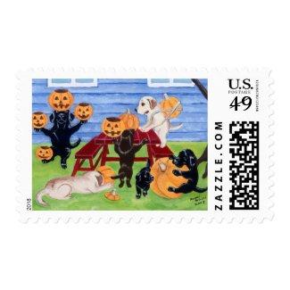 Halloween Labradors! Postage
