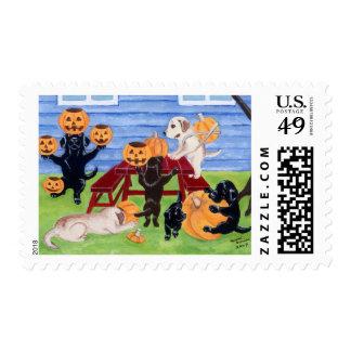 Halloween Labradors! Postage Stamps