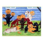 Halloween Labradors! Postcard
