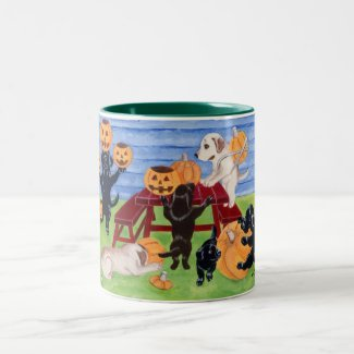 Halloween Labradors! Two-Tone Coffee Mug