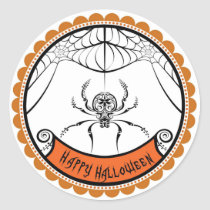 Halloween Lace Spider favor stickers labels