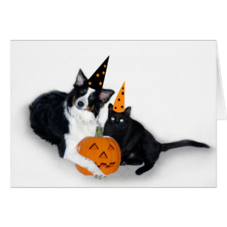 Halloween Lady and Spooky Card