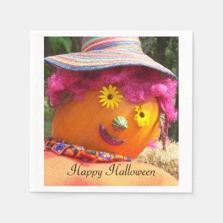 Halloween Lady Scarecrow Paper Napkins