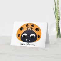 Halloween Ladybug Card card
